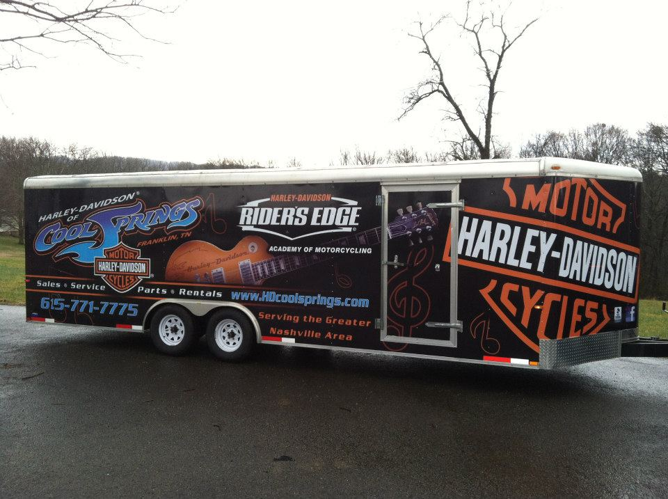 harley davidson of cool springs full trailer wrap les paul dsignz