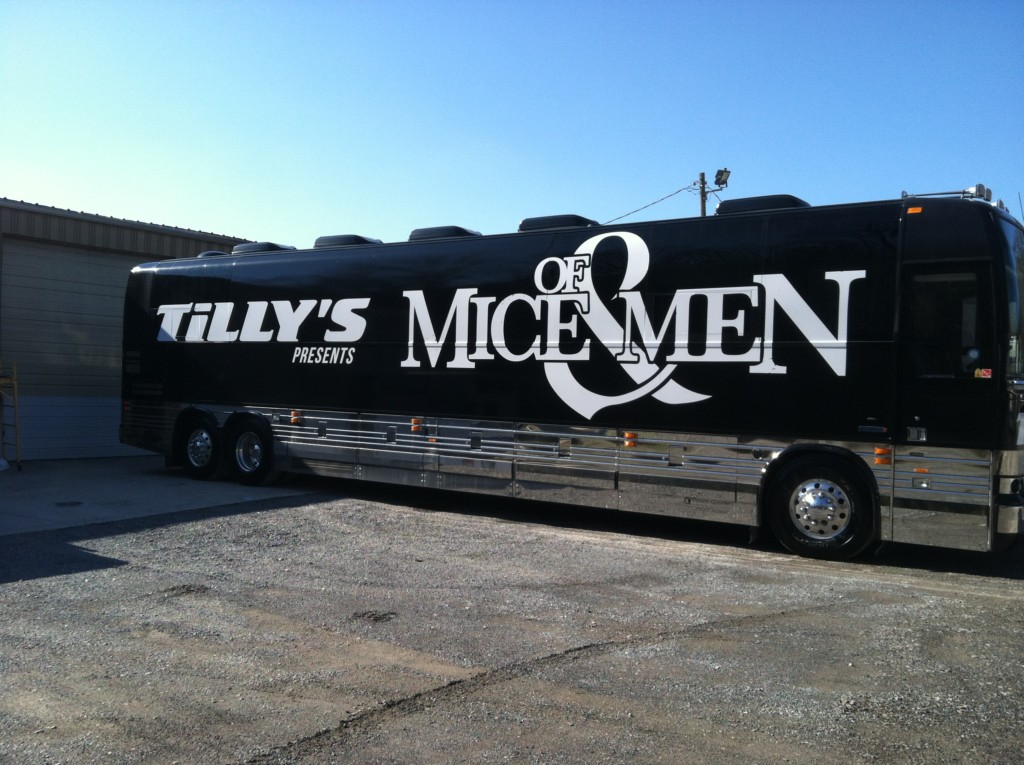 of mice and men tour bus wrap by dsignz